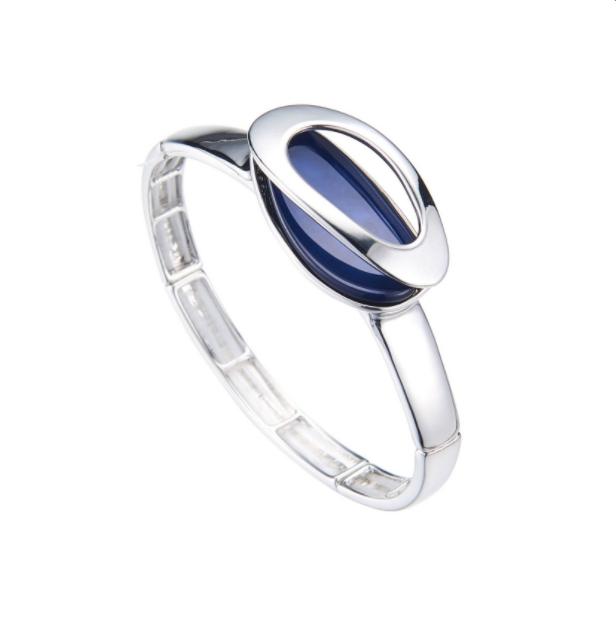 BLYTHE-Bracelet elastique marine