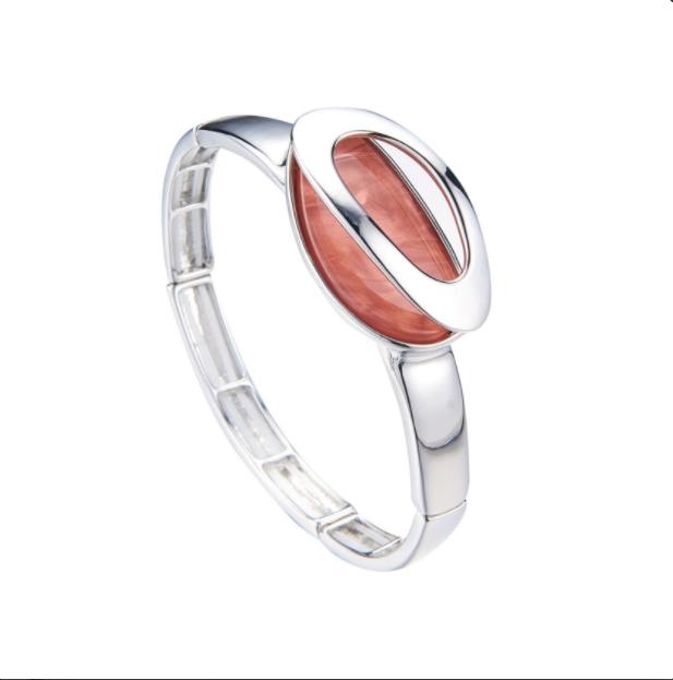 BLYTHE-Bracelet elastique nude