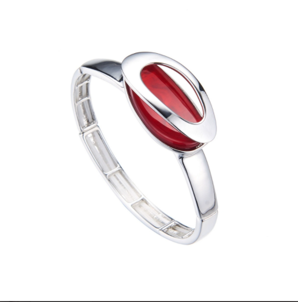 BLYTHE-Bracelet elastique rouge