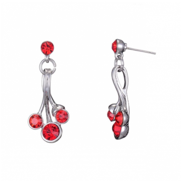 ADELAIDE-Boucle d\'oreille tige rouge