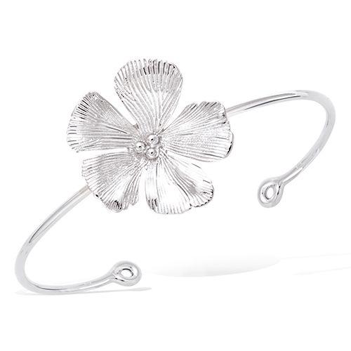Bracelet jonc fleur cerisier