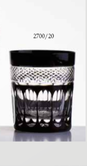 6 Verres à whisky noir Mireille