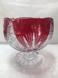 Coupe en cristal rouge