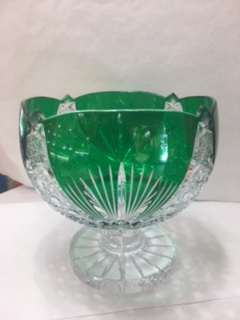Coupe en cristal verte