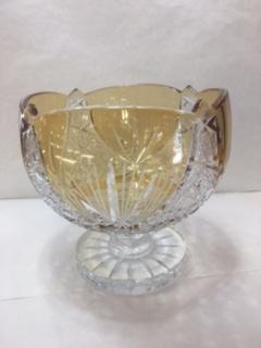 Coupe en cristal ambre
