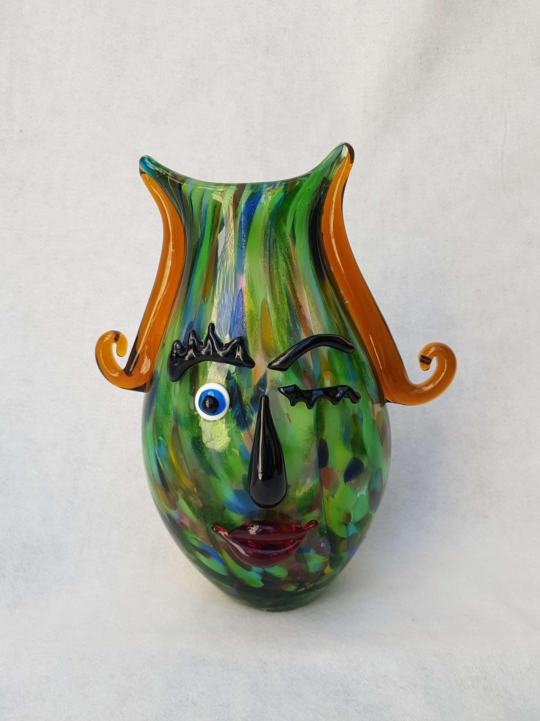 Vase Antibes en pâte de verre