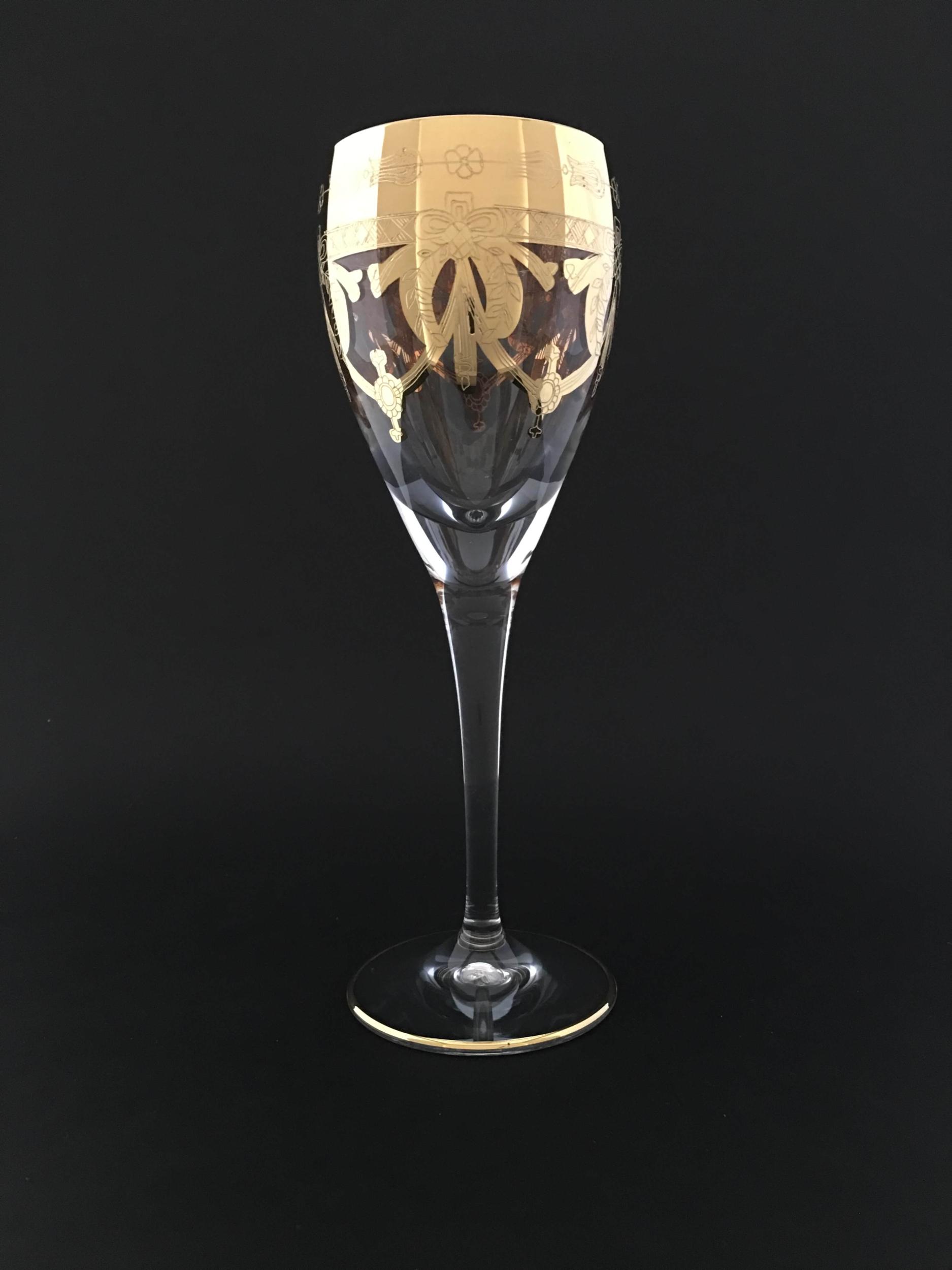 Verre à vin Elsa Napoléon doré
