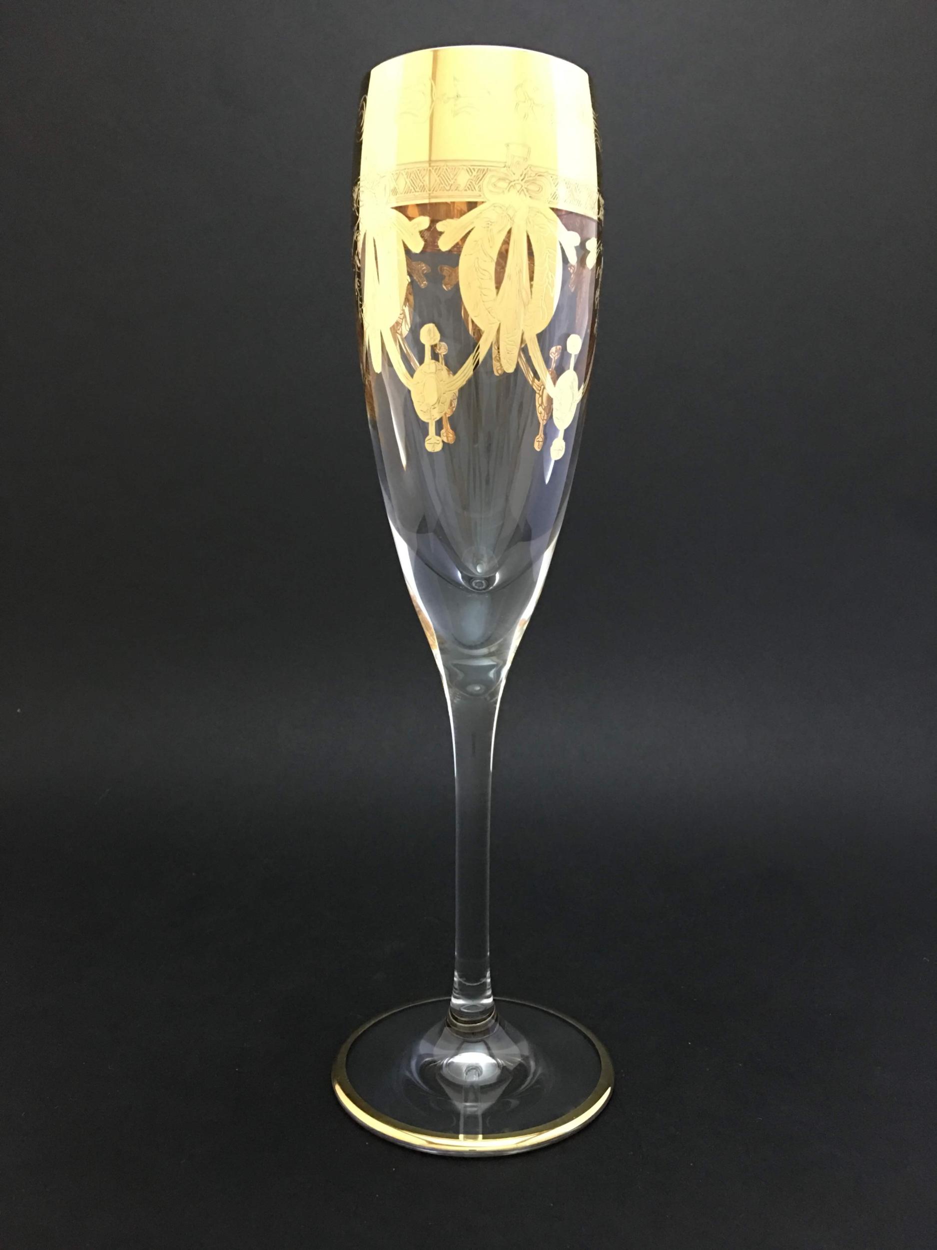 Flûte cristal Elsa Napoléon dorée
