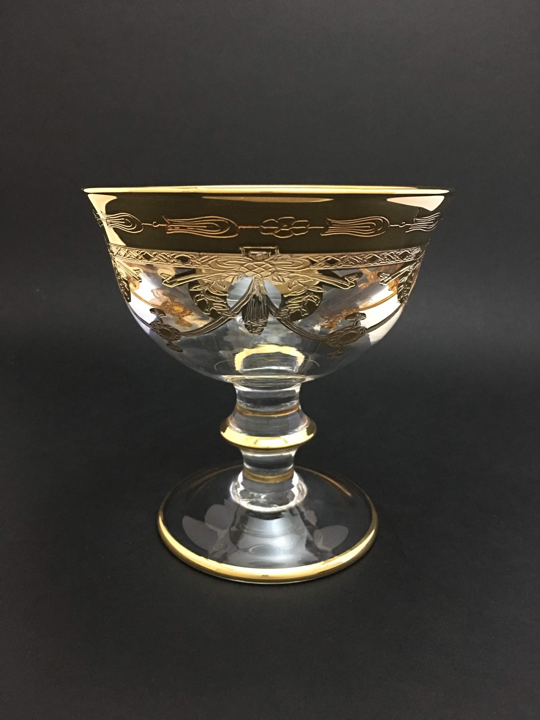 Coupe à Champagne Calice Napoléon dorée
