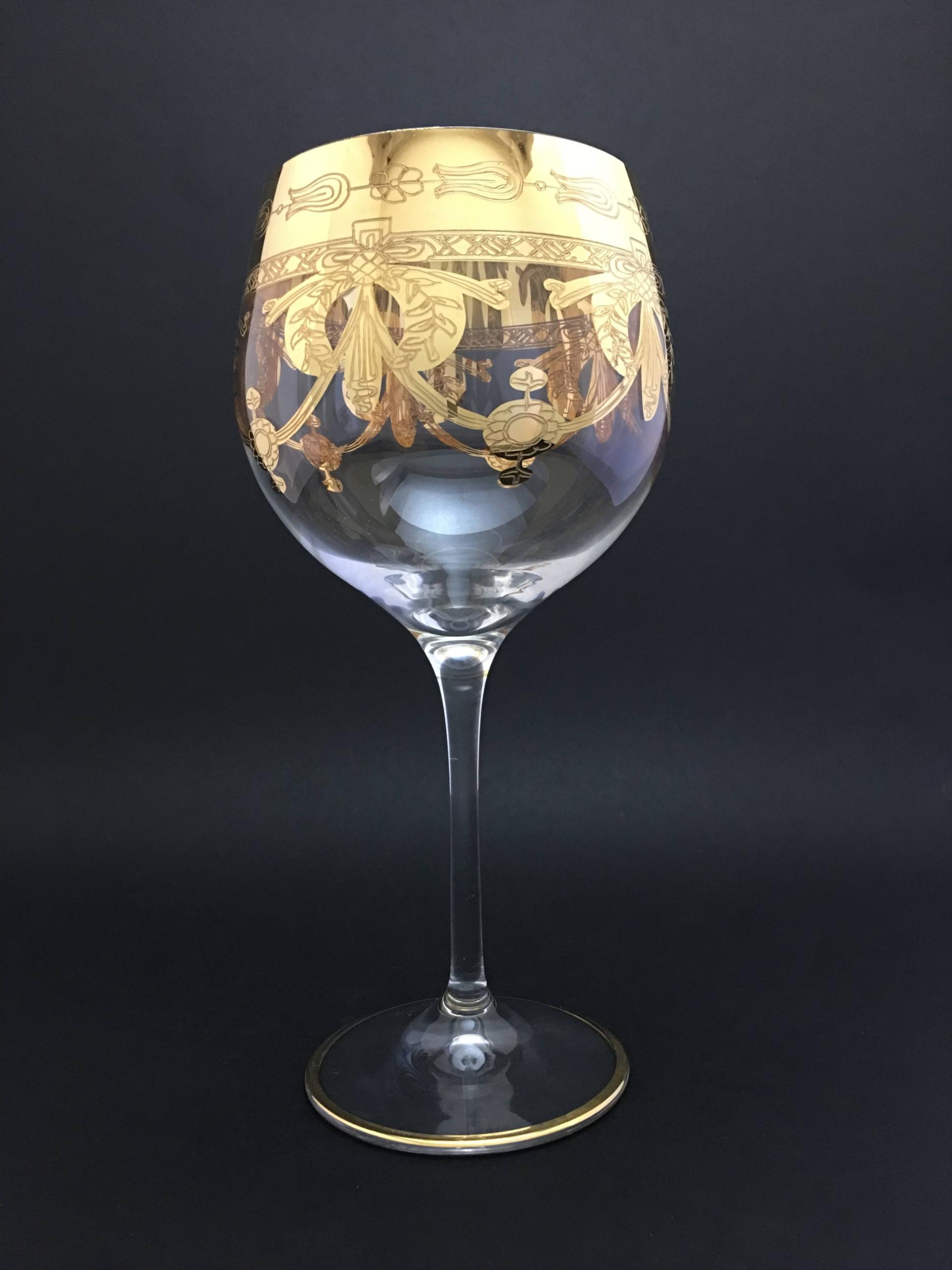 Verre à vin dégustation Napoléon doré