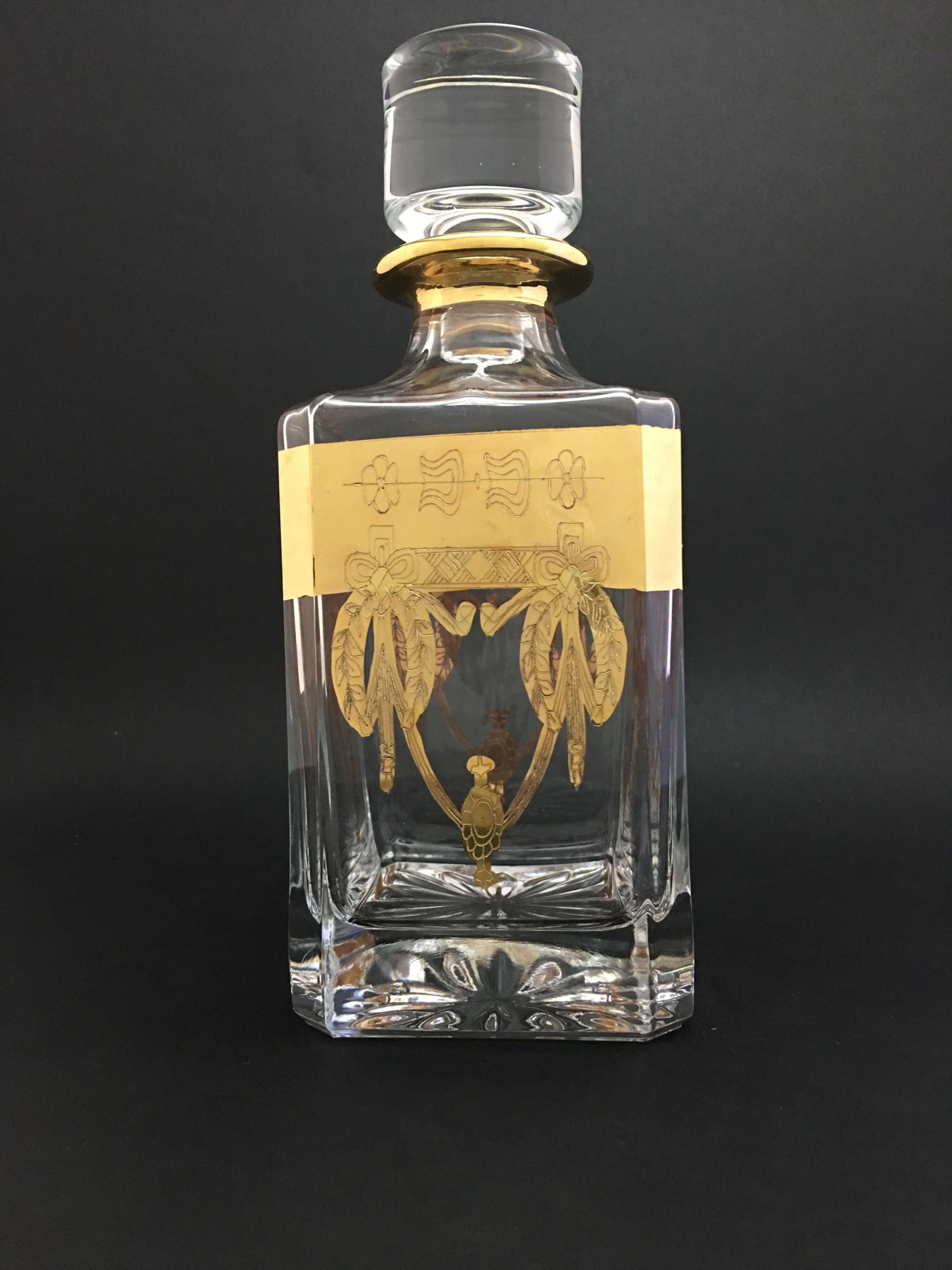 Carafe à whisky Napoléon dorée