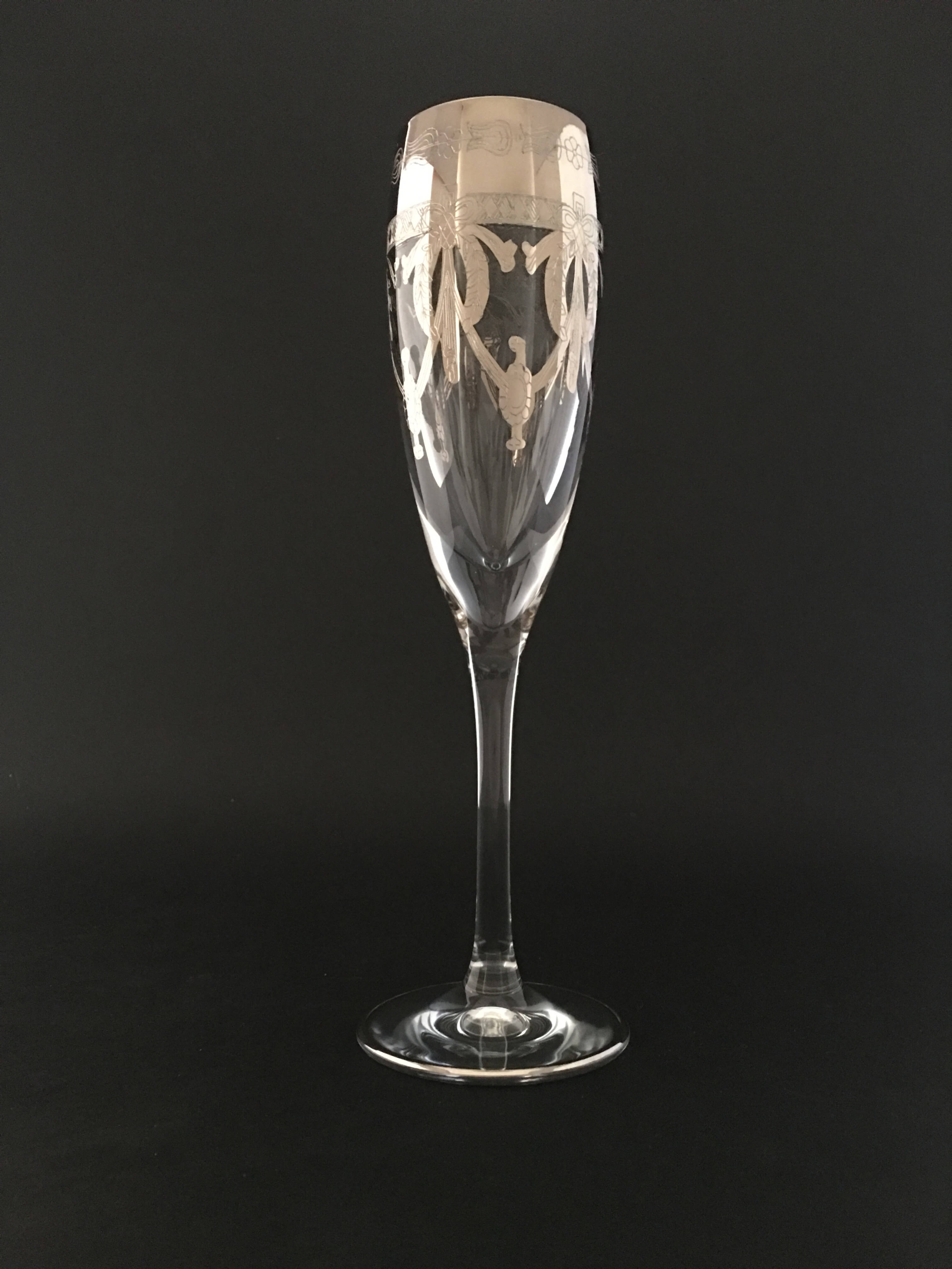 Flûte à Champagne Napoléon Platine