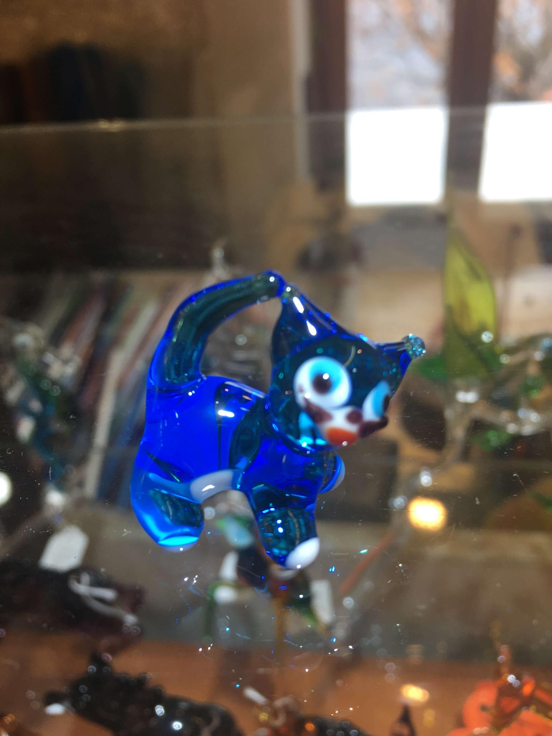 Chat pendentif en Cristal