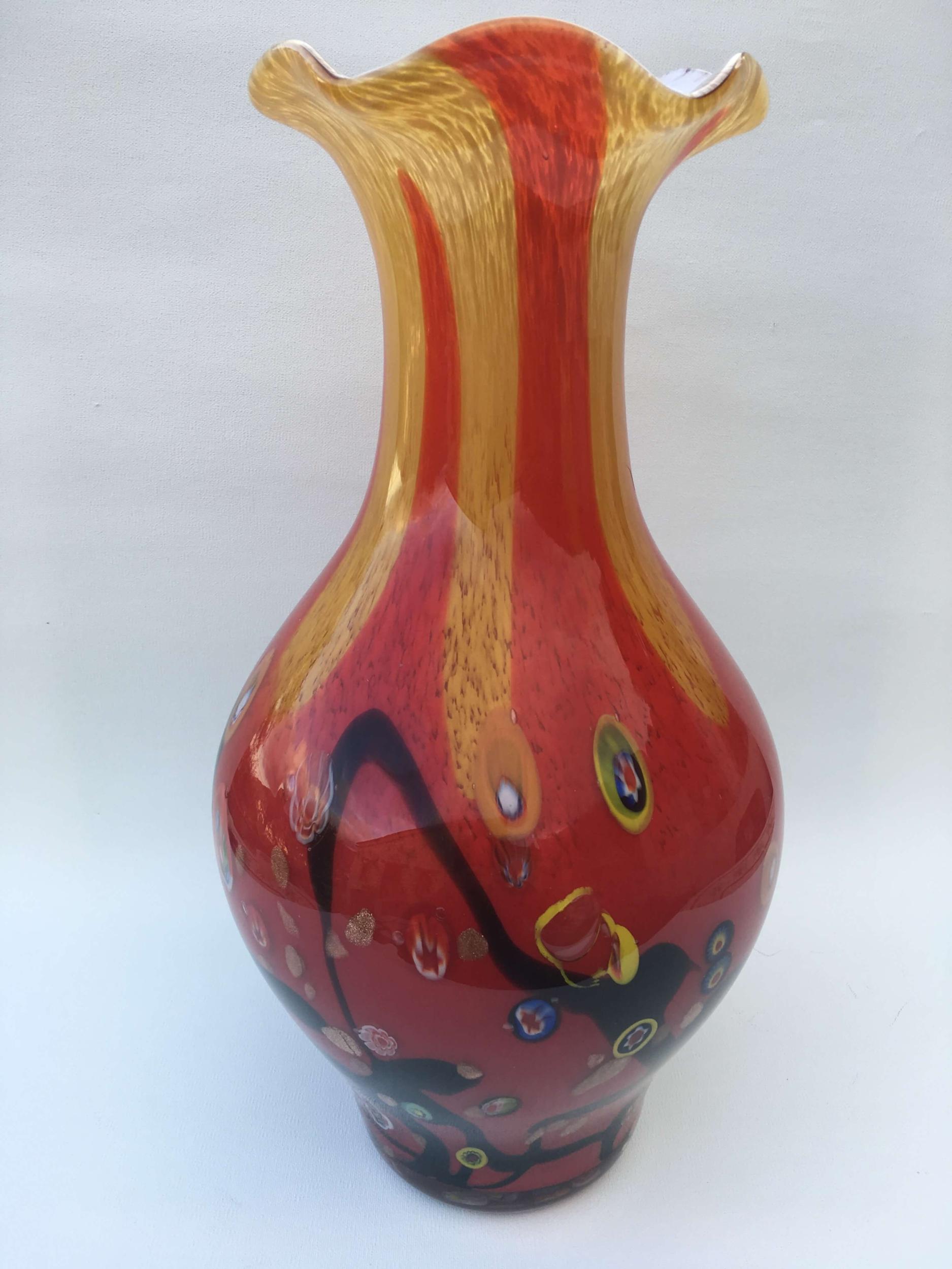 Vase Calvi en pâte de verre
