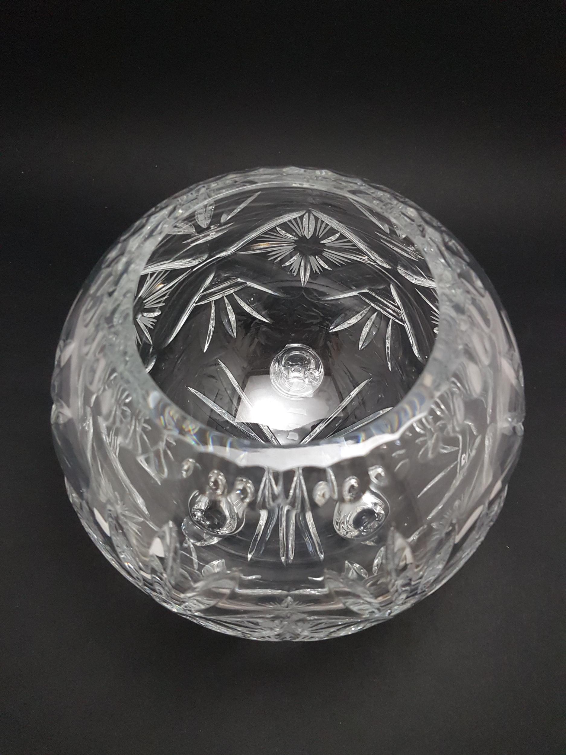 Vase en cristal Bouquet Rond