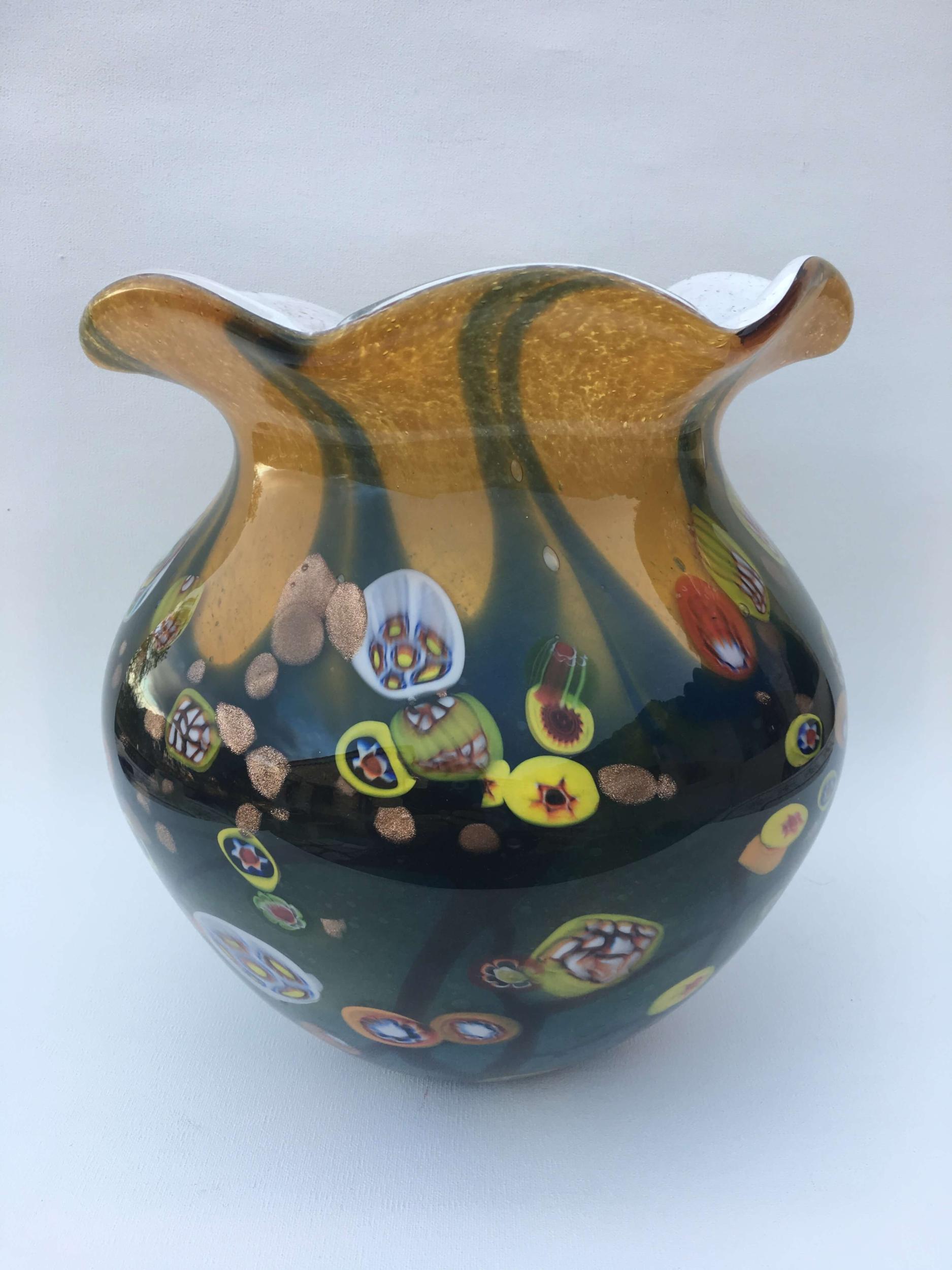 Vase Théoule en verre fait main