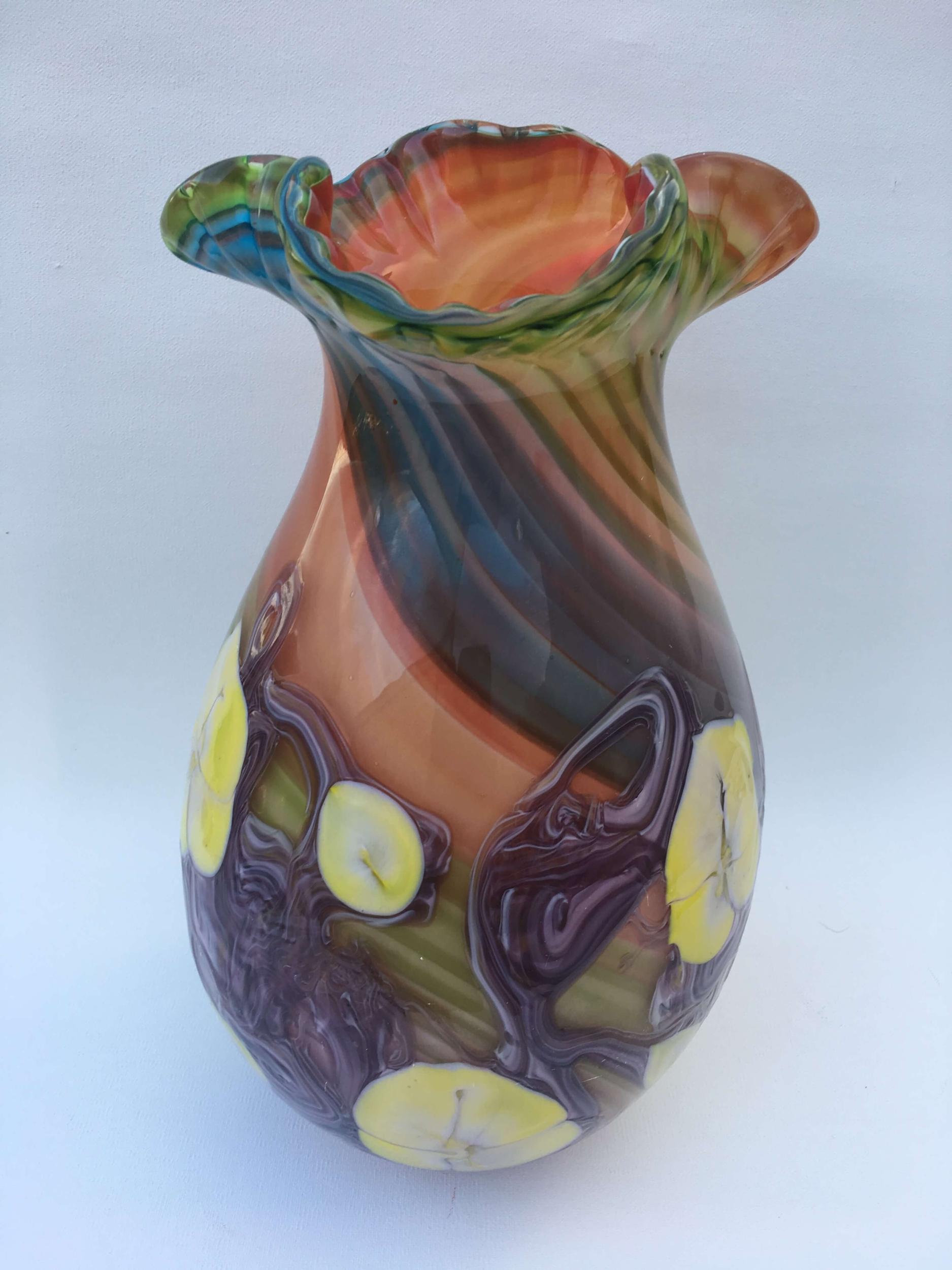 Vase St Raphael en verre fait main