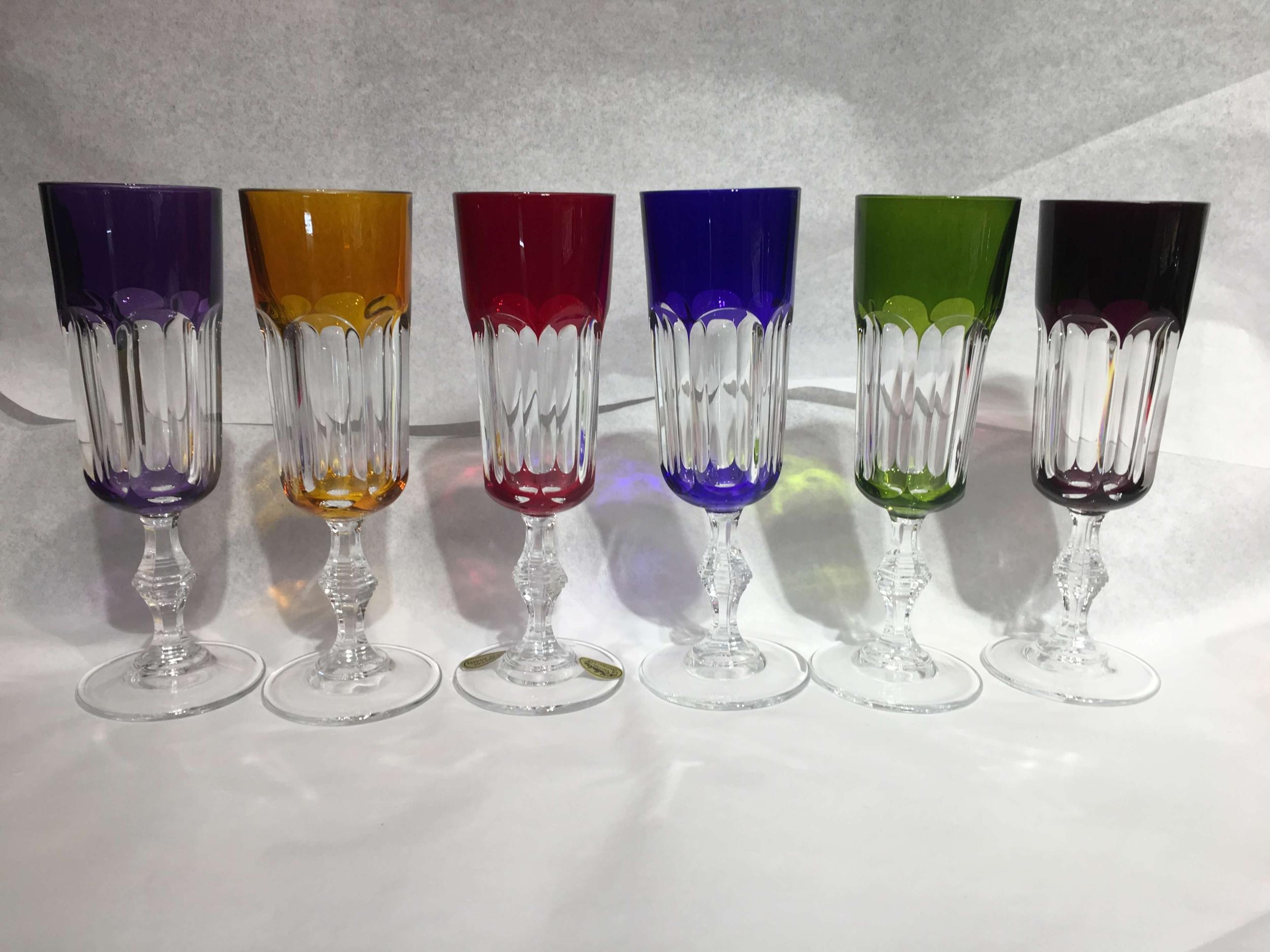 6 Flûtes à Champagne en Cristal Provence