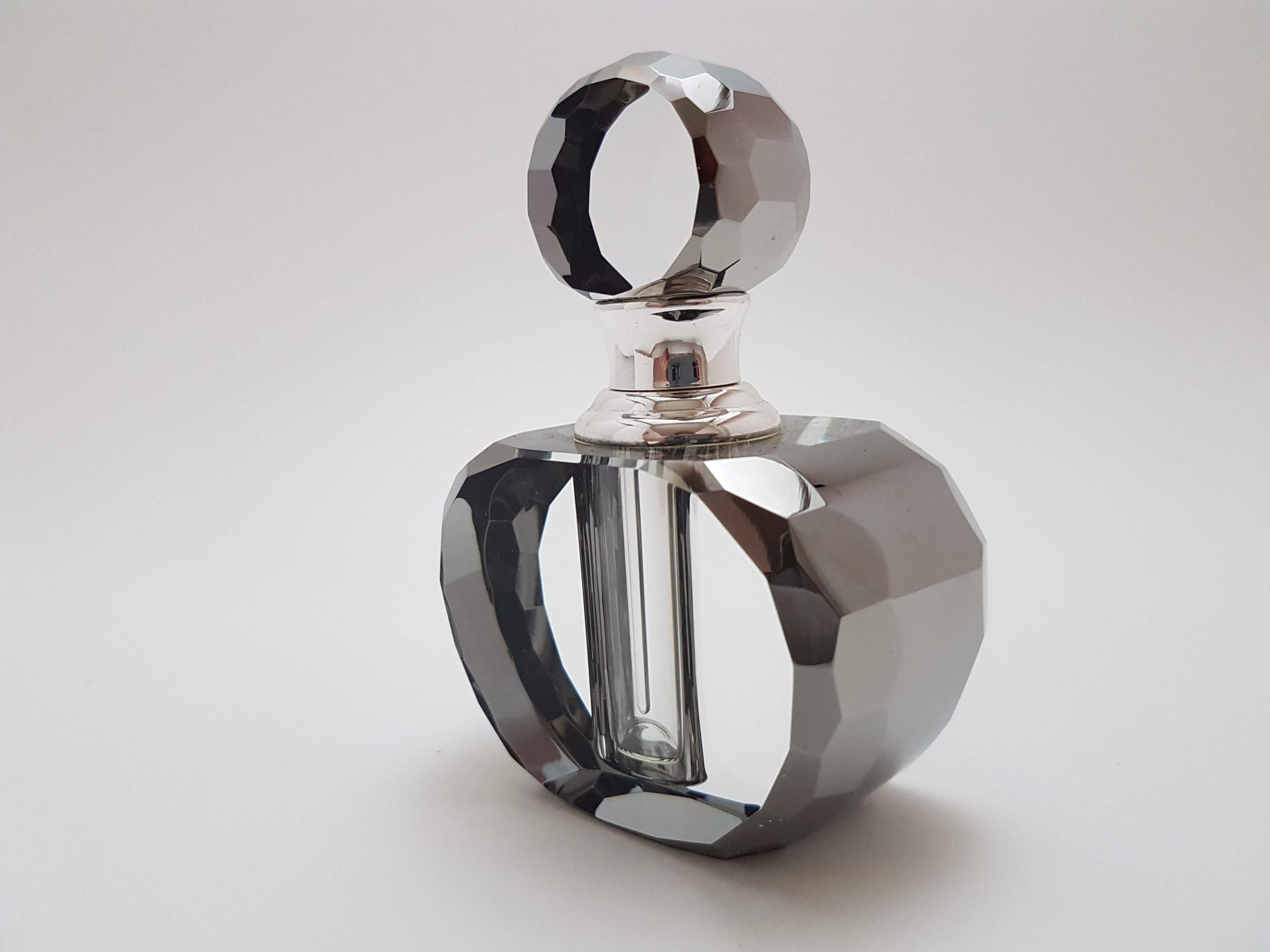 Flacon à Parfum en Cristal Hématite 3 ML