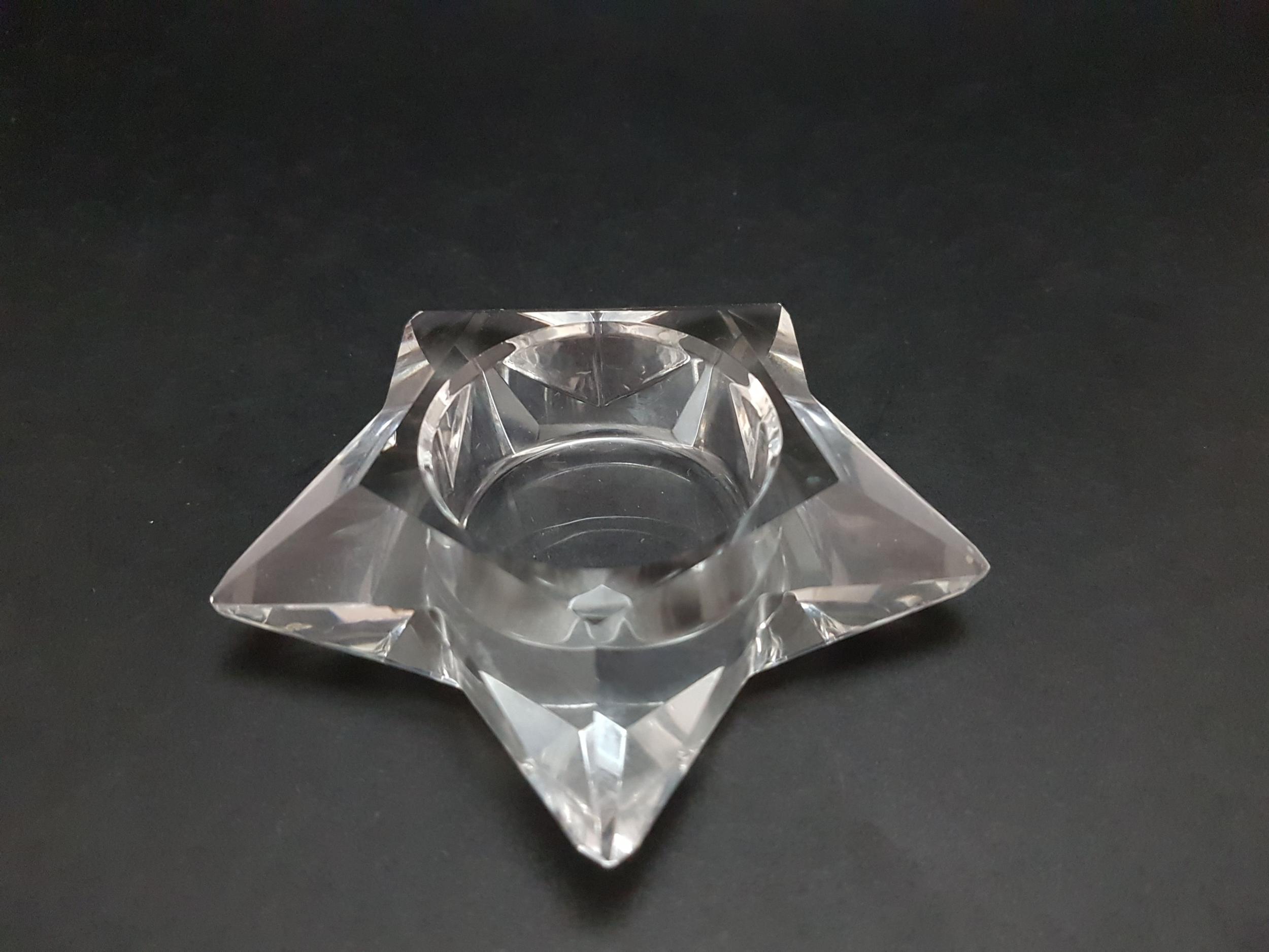Bougeoir en Cristal Etoile