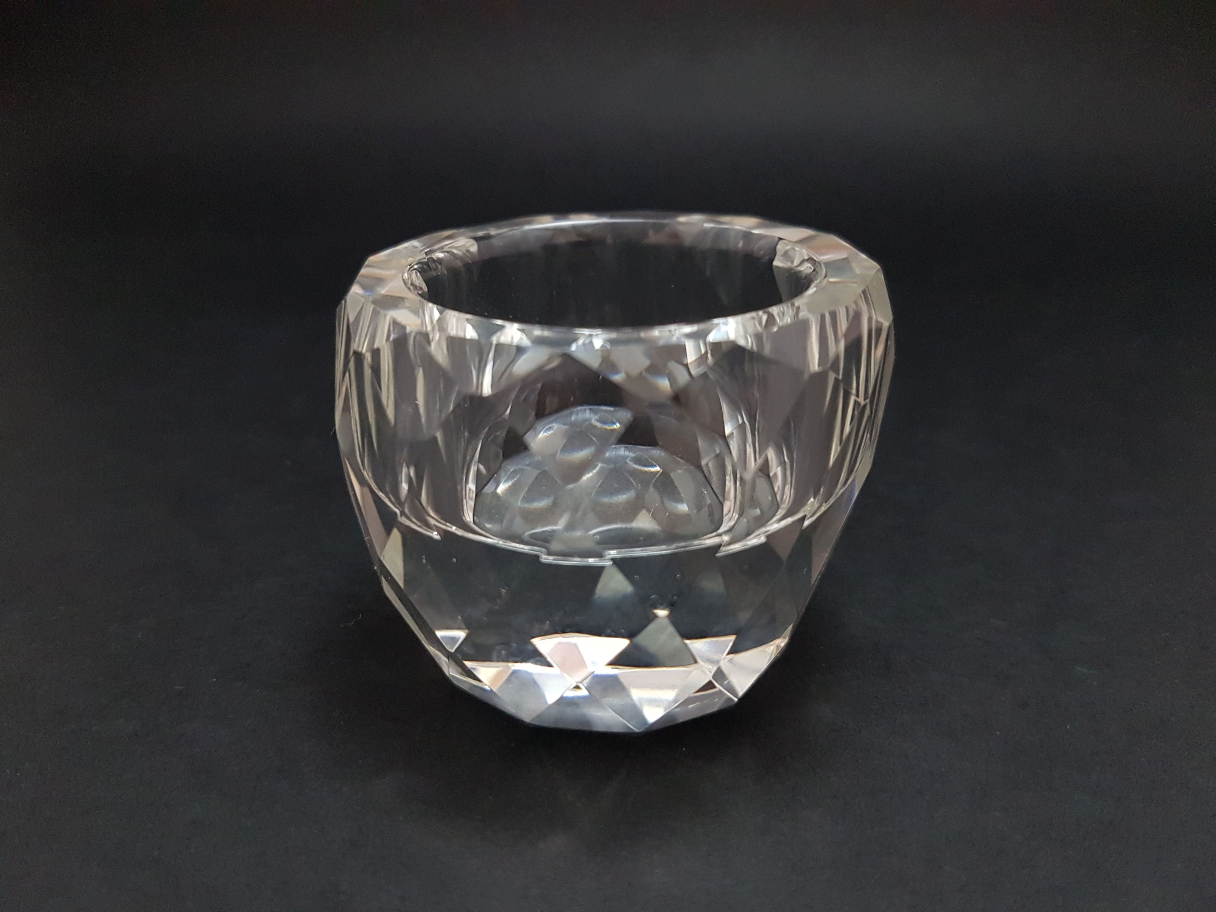 Bougeoir en Cristal Diamant