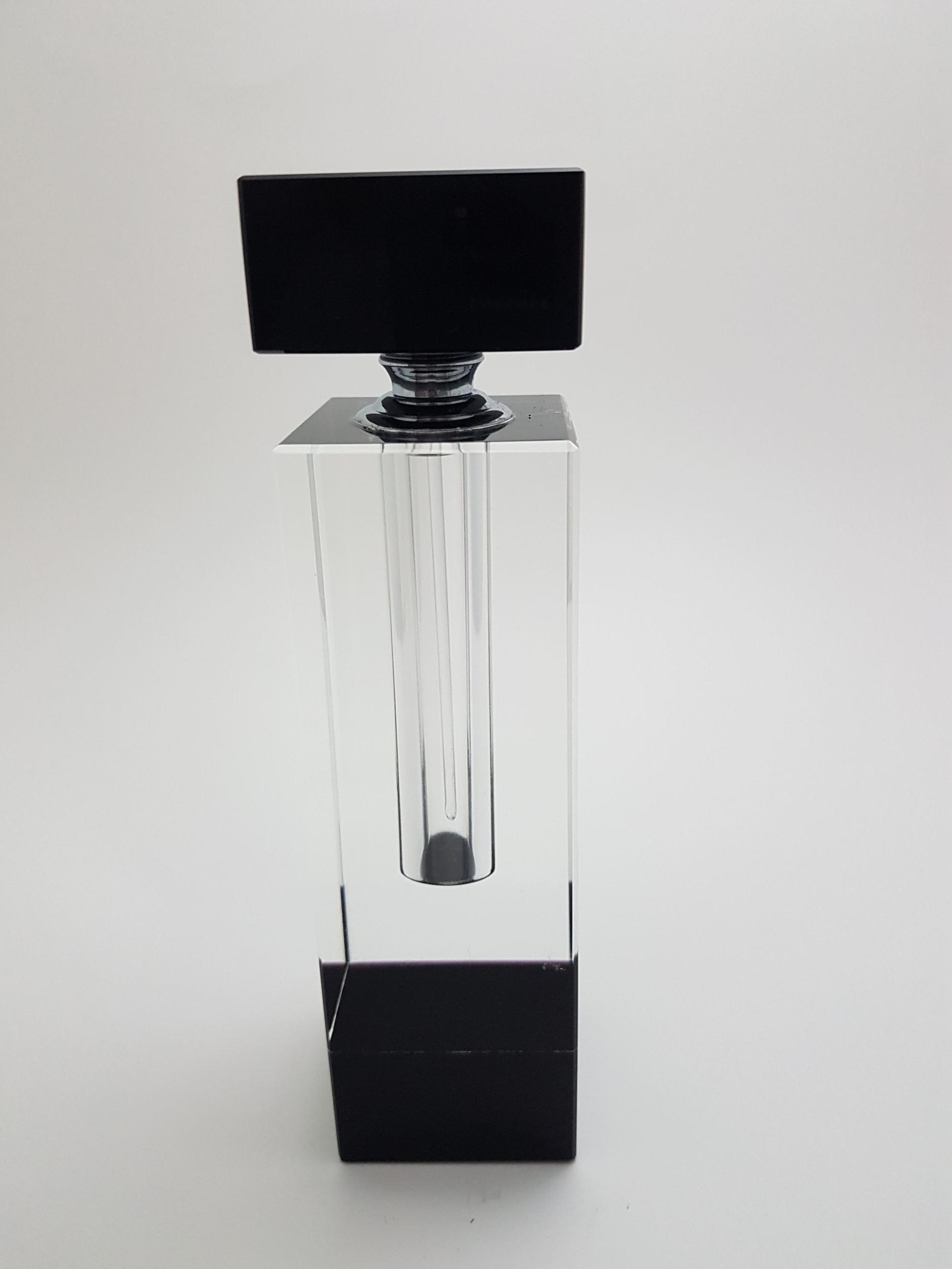 Flacon à parfum en cristal bicolore