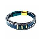 bracelet-acier-doré-et-blanc-triple-cuir-réglable- (1)
