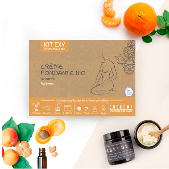 Kit cosmétique bio - crème fondante au karité