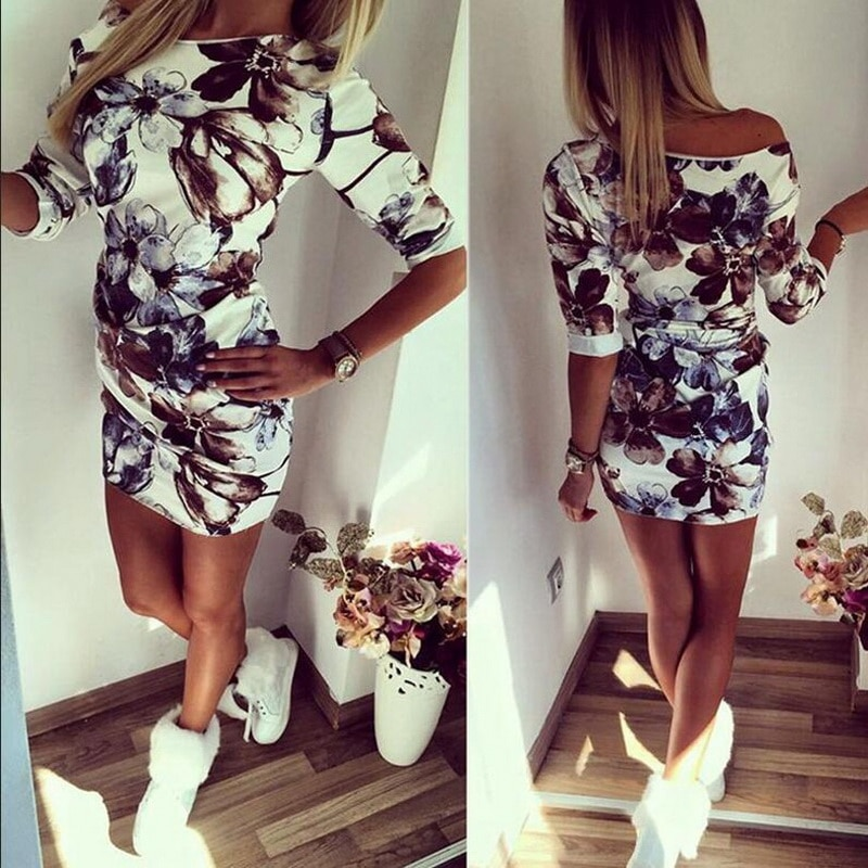 Robe floral moulante