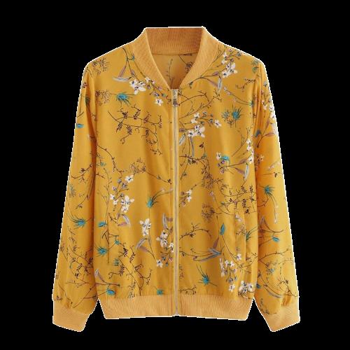 Veste fleurie jaune