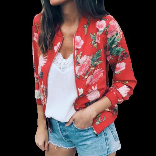 Veste femme imprimé fleuri