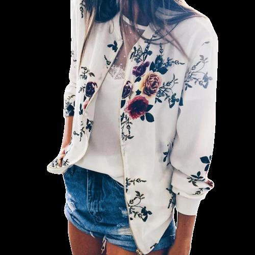 Veste fleurie blanche