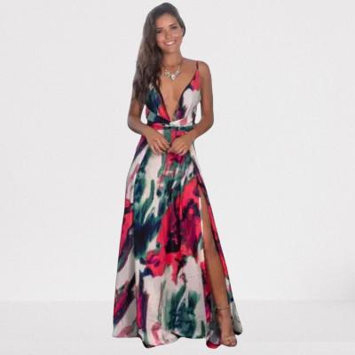 Longue robe fleurie d\'été