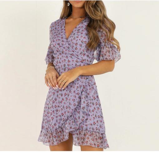 Mini robe à fleurs sexy