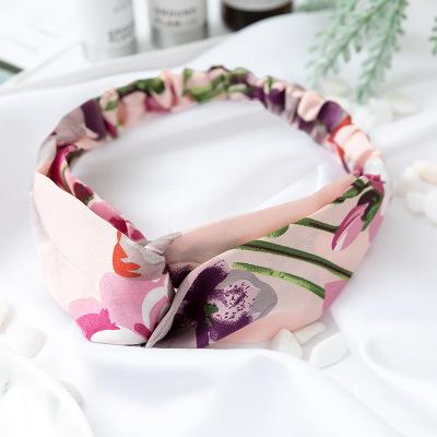 Bandeau fleuri rose et violet