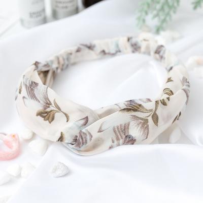 Bandeau fleuri blanc et marron