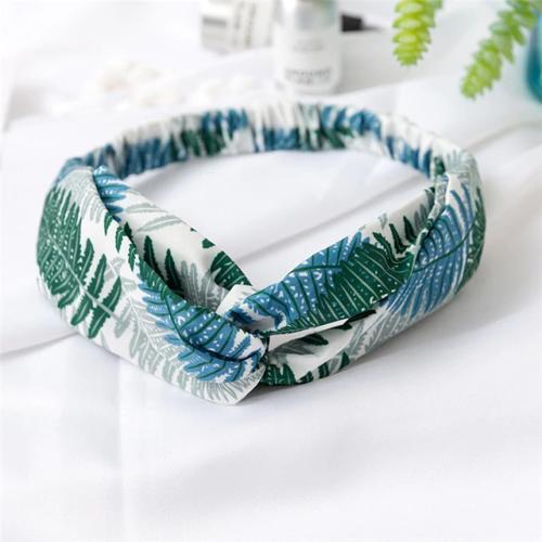 Bandeau fleuri blanc vert et bleu