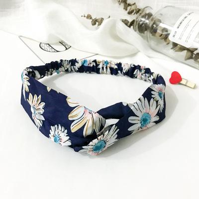 Bandeau fleuri bleu et blanc
