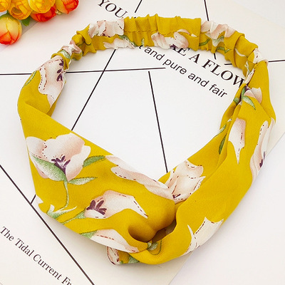 Bandeau fleuri jaune