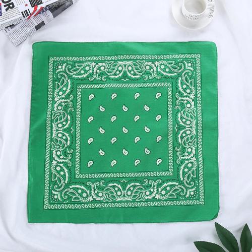bandana fleuri vert