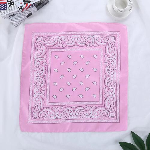 Bandana fleuri rose