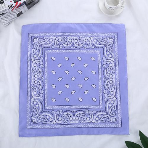 Bandana fleuri bleu clair