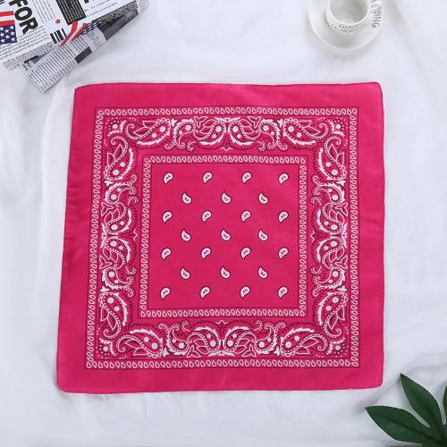 Bandana fleuri rose foncé