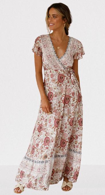robe-a-fleurs-rose