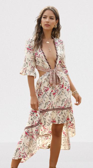 Robe à fleurs chic