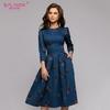 S-Saveur-femmes-fleurs-impression-automne-robe-d-contract-3-4-manches-simple-hiver-longue-robe