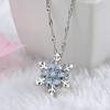 Charme-Vintage-lady-Bleu-Cristal-Flocon-De-Neige-Zircon-Fleur-Argent-Colliers-et-Pendentifs-Bijoux-pour