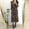 Femmes-robe-2019-printemps-t-mode-cor-enne-Vintage-imprim-Floral-en-mousseline-de-soie-robe