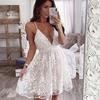 Justchicc-maille-blanc-robe-en-dentelle-femmes-vider-sans-manches-col-en-V-Sexy-robe-moulante