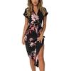 Femmes-imprim-fleuri-robe-de-plage-mode-Boho-robes-d-t-dames-Vintage-pansement-moulante-robe